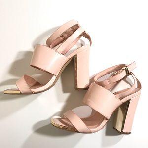 Pink Topshop Block heels